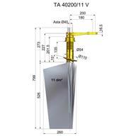 Timone acciaio TA40200-11 V